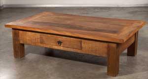 שולחן סלוני מעץ מלא