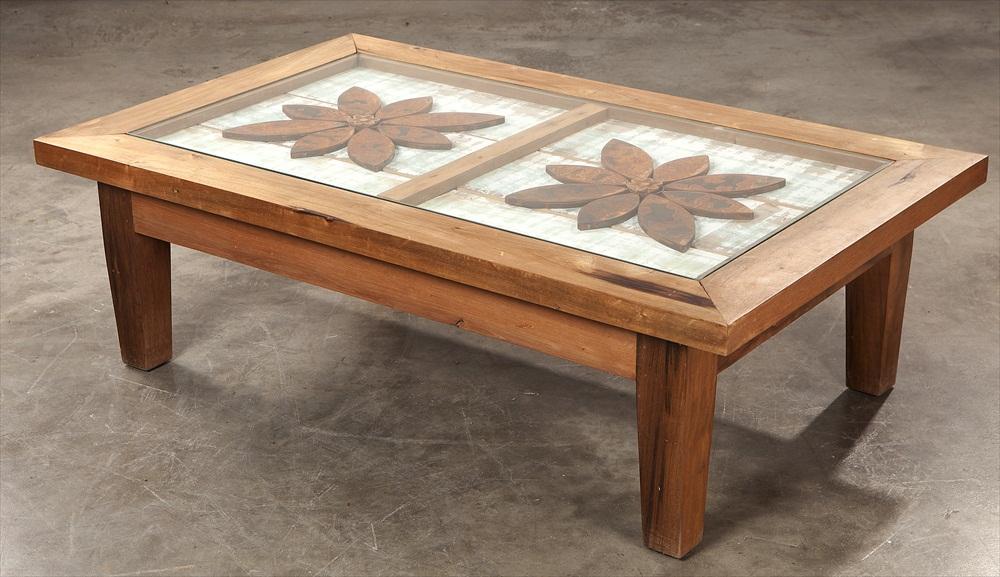 שולחן סלוני עם פרזול ישן1