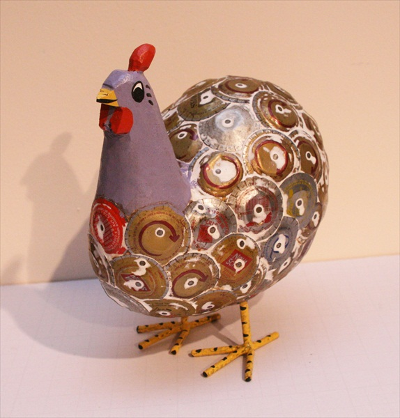 תרנגול עשוי מפקקים