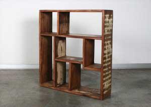 ספריה קטנה מעץ ממוחזר