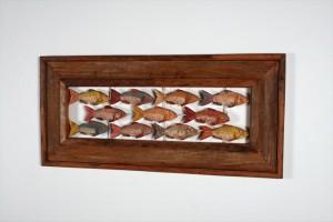 מסגרת דגים מעץ