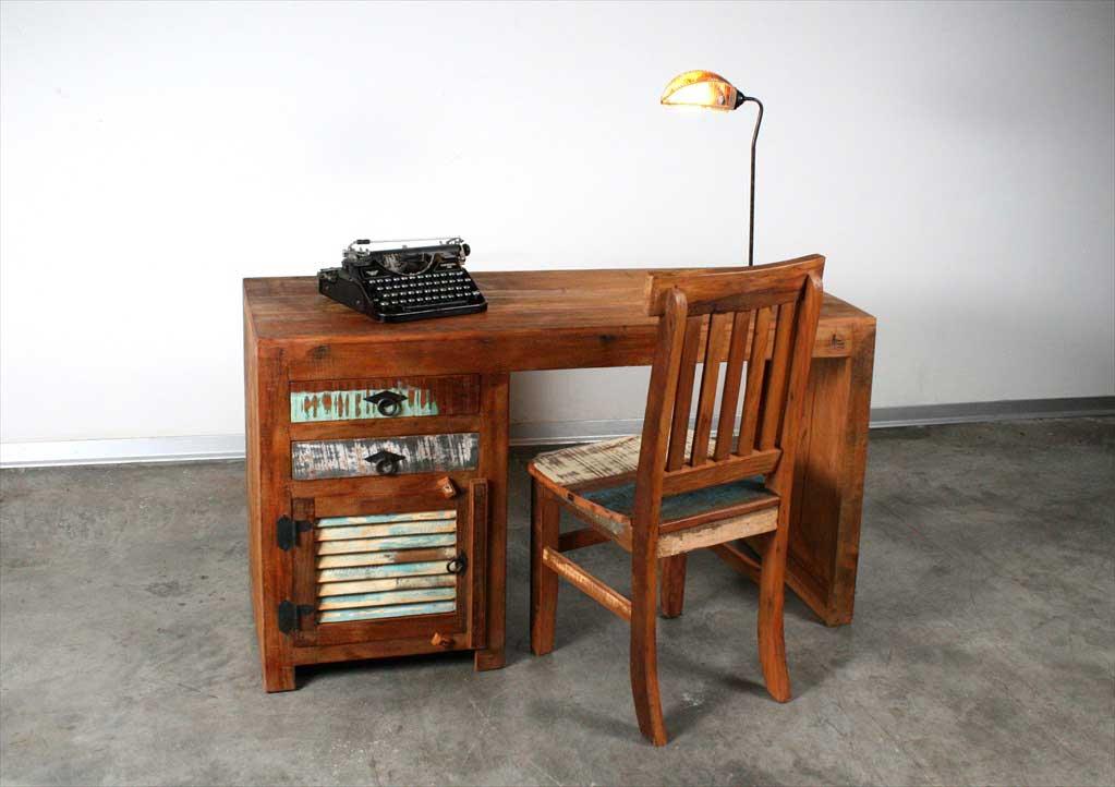 שולחן עבודה תריס מעץ ממוחזר
