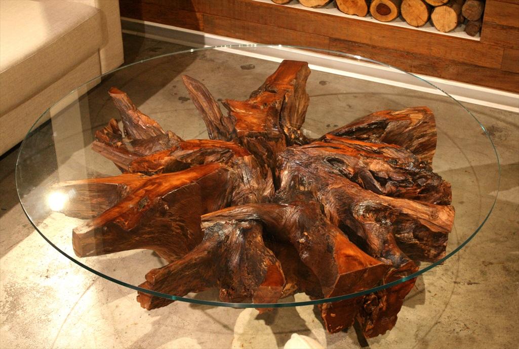 גזע Guajuvira מיוחד כבסיס לשולחן סלוני