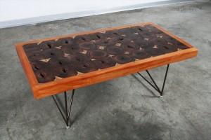 שולחן טלאים מעץ טבעי