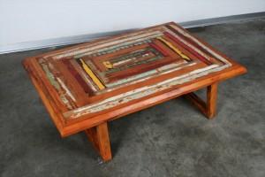 שולחן סלוני פסיפס צבעוני מעץ