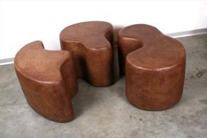 שולחן/ שרפרף בשלושה חלקים