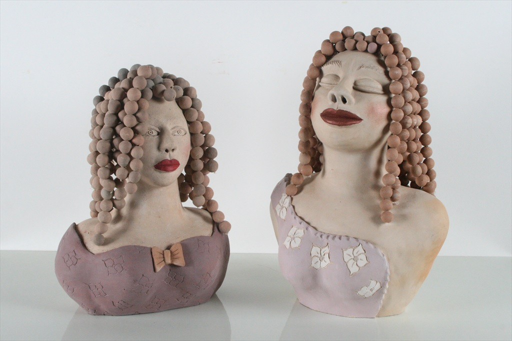 פסלים / בובות חמר תלתלים